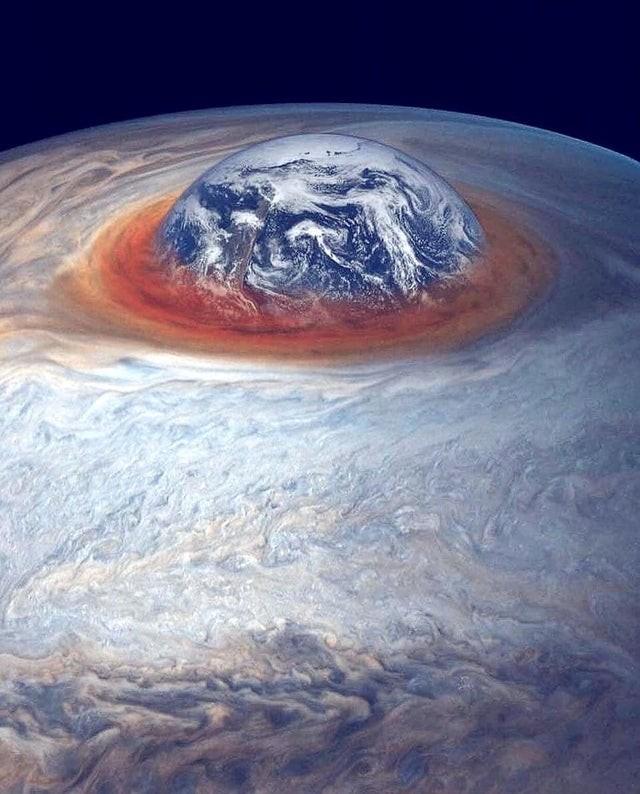 La Terre comparée à Jupiter