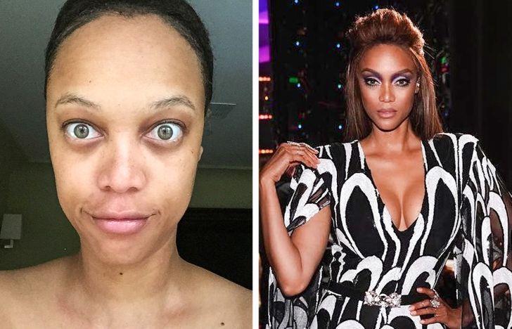 Tyra  Banks  sans maquillage