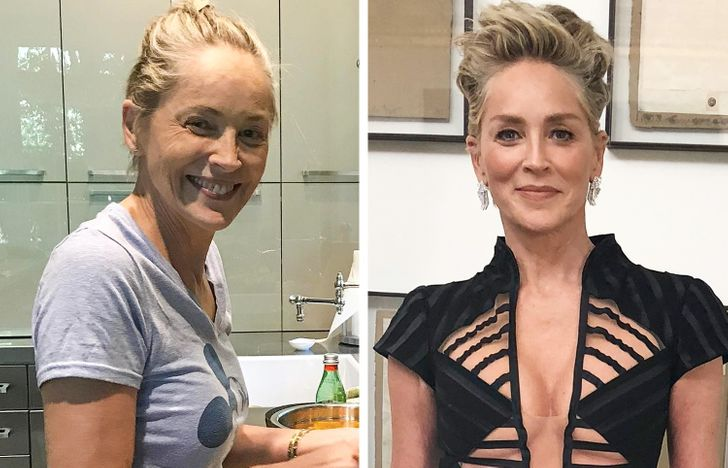 Sharon Stone sans maquillage