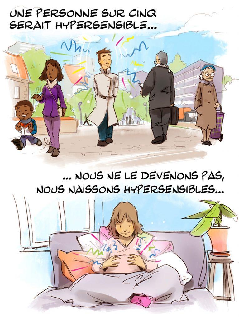 illustration bd hypersensible
