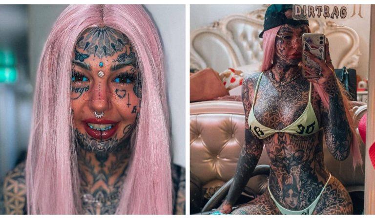 Amber Luke dévoile une photo d'elle adolescente sans tatouages ni chirurgie : « Elle était si belle »