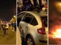 Les supporters du PSG saccagent tout à Paris après la défaite en finale de Ligue des Champions.