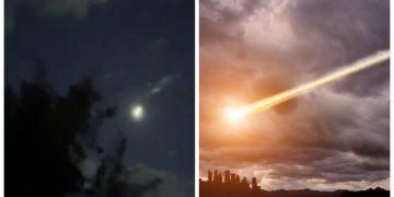 La météorite filmée le 29 juin 2020.