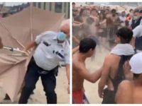 Une émeute sur la plage de Blankenberge.