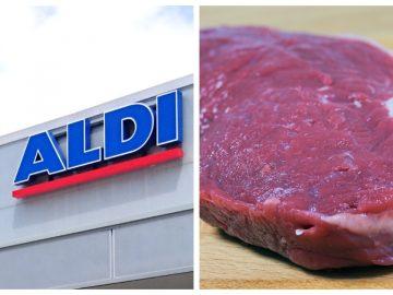 Un faux-cil dans un morceau de viande vendu par Aldi.