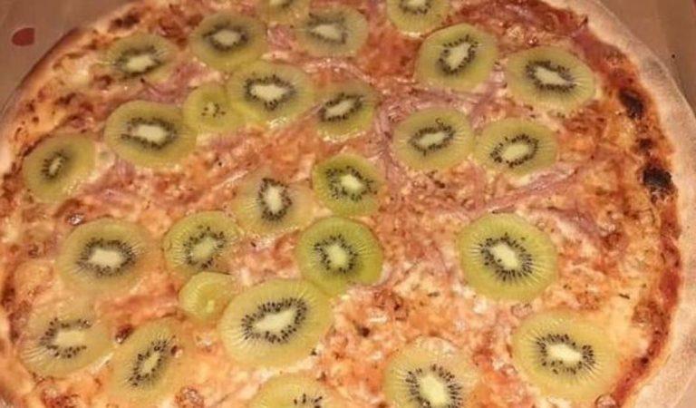 Après la pizza à l'ananas, place à la pizza aux kiwis !
