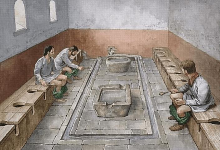 Des latrines romaines.