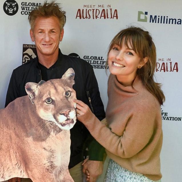 Sean Penn et Leila George.