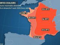 Météo-France place en alerte canicule 45 départements ce vendredi 07 août 2020.