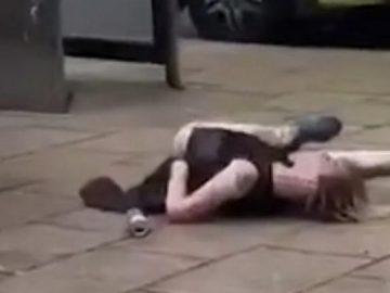 vidéo phénomène drogue gens tombent en pleine ruent