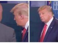 Donald Trump évacué par les services secrets lors d'une conférence de presse, en raison d'un tireur à proximité de la Maison Blanche.