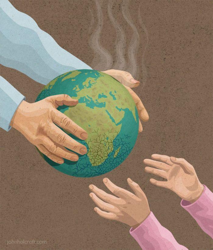 La planète détruite que nous laissons à nos enfants.