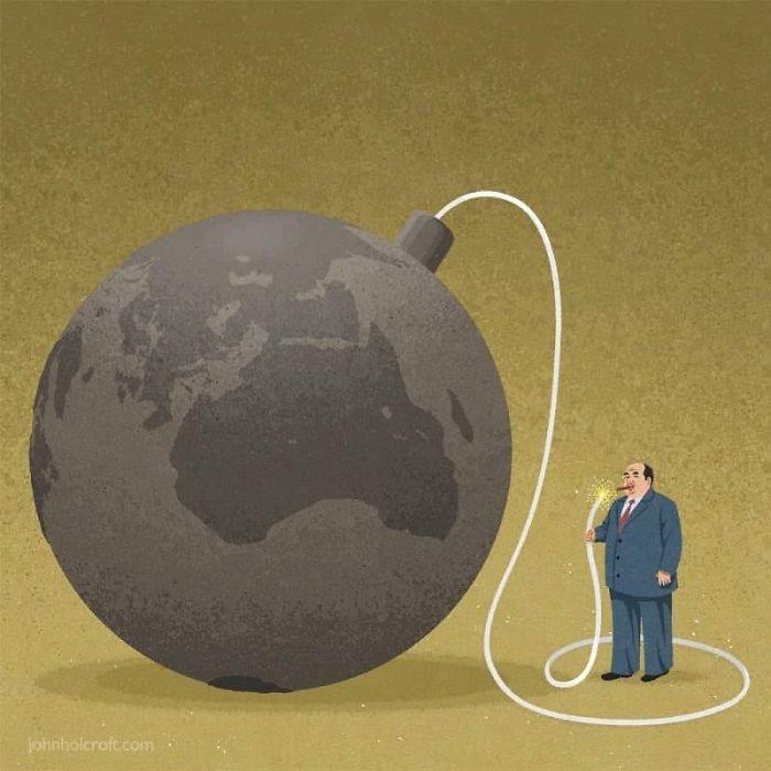 Les hommes d'affaires qui s'enrichissent en polluant