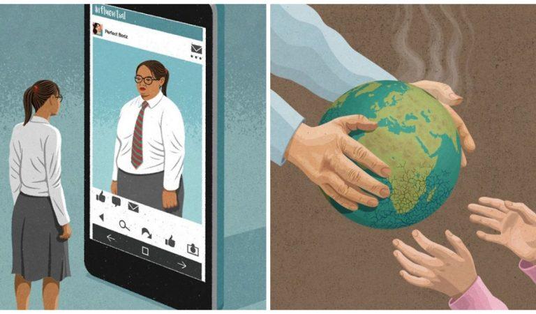 23 illustrations frappantes qui dénoncent les travers de notre société