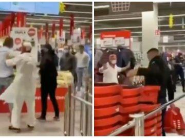 Une bagarre dans le centre commercial de Crema, en Italie.