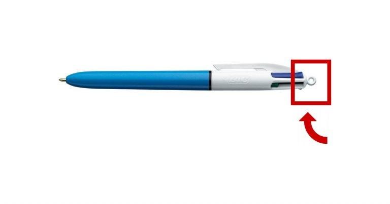 utilité boule bout Bic 4 couleurs