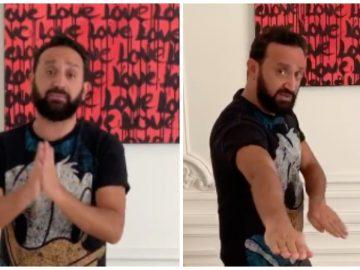 Cyril Hanouna qui explique son challenge Protège tes potes.