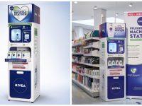 Les distributeurs de gel douche Nivea en Allemagne.