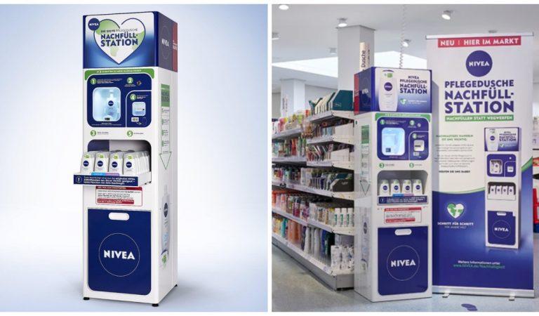 Un gel douche Nivea qui se recharge en magasin pour limiter les emballages plastiques