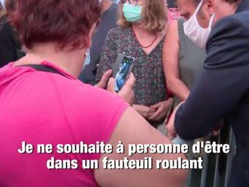 Une handicapée humiliée à l'aéroport d'Ajaccio rencontre Macron.