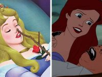 illustrations drôles princesses Disney vie moderne