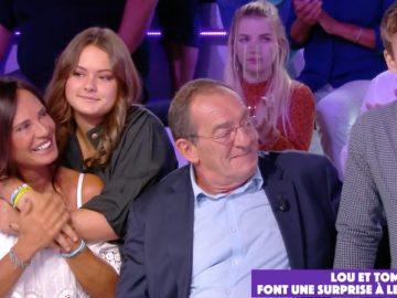Jean-Pierre Pernaut, Nathalie Marquay et Lou et Tom Pernaut dans TPMP.