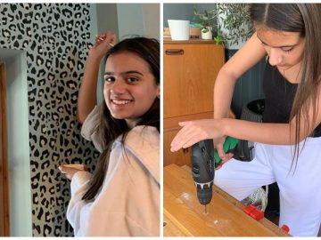 L'adolescente qui rénove sa maison.