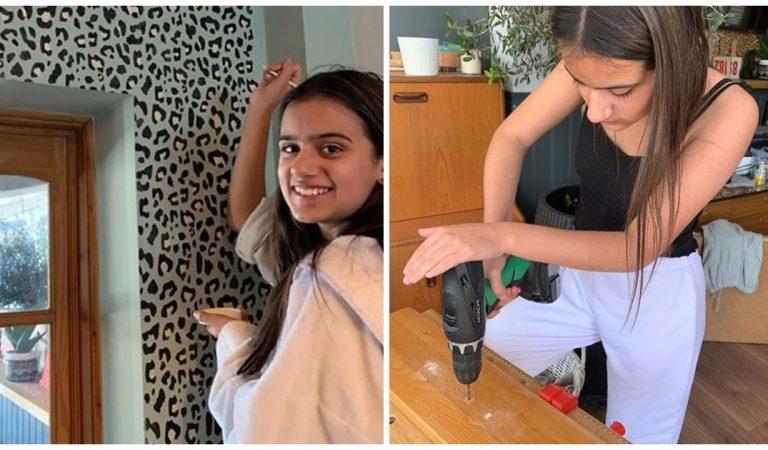 Avant-après : une ado de 12 ans rénove entièrement la maison familiale (photos)