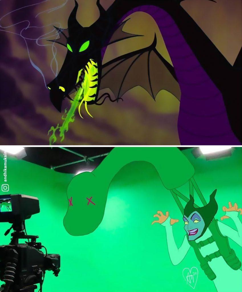 illustrations drôles making-of films Disney Andhika Muksin Maléfique