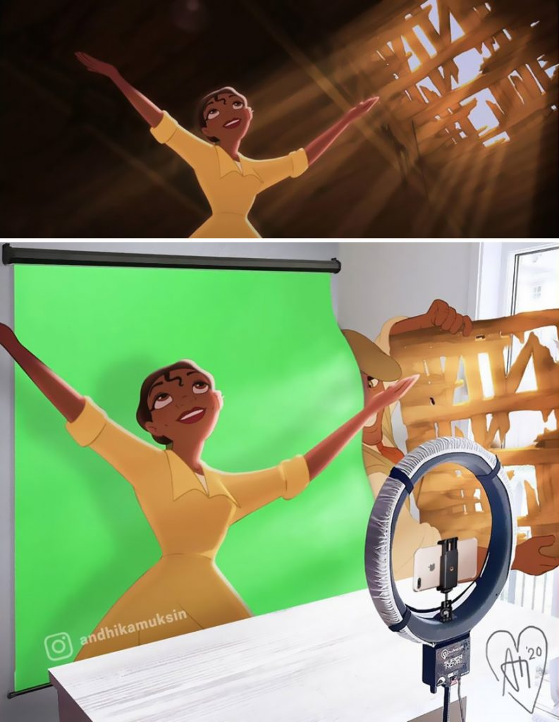 illustrations drôles making-of films Disney Andhika Muksin Tiana