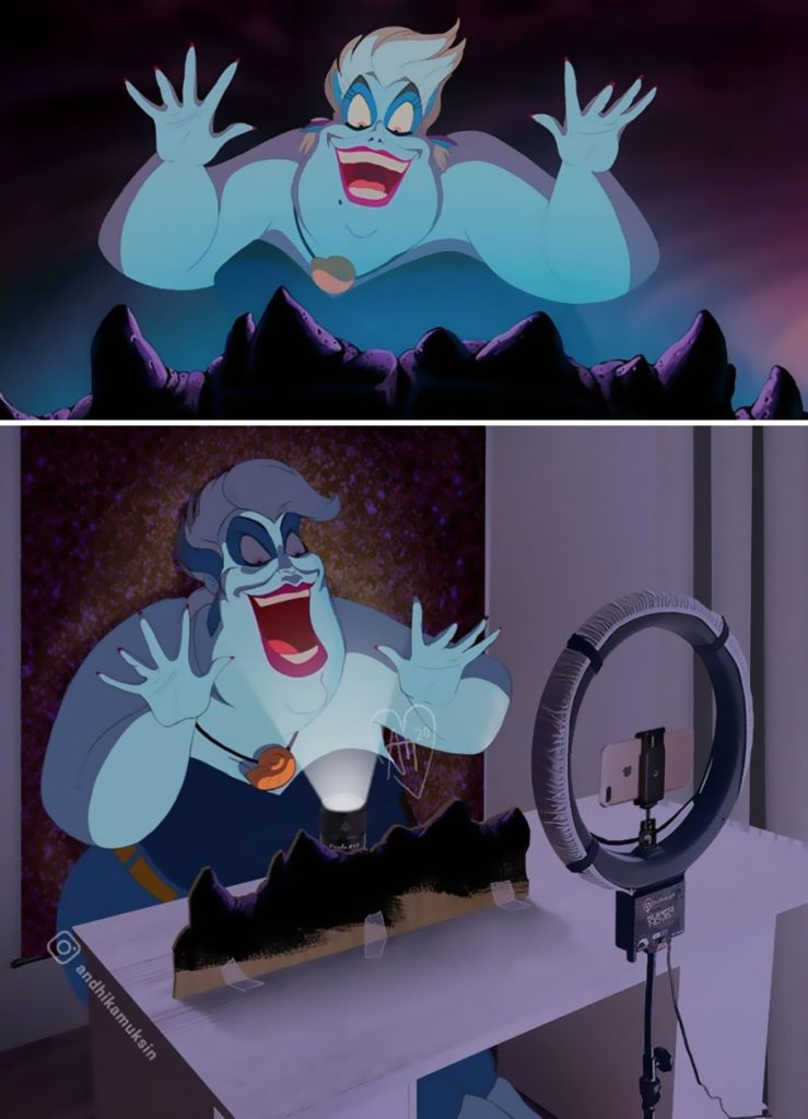 illustrations drôles making-of films Disney Andhika Muksin Ursula
