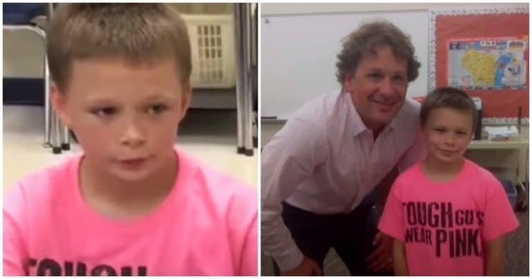 Winsconsin garçon harcelé à cause d'un t-shirt rose