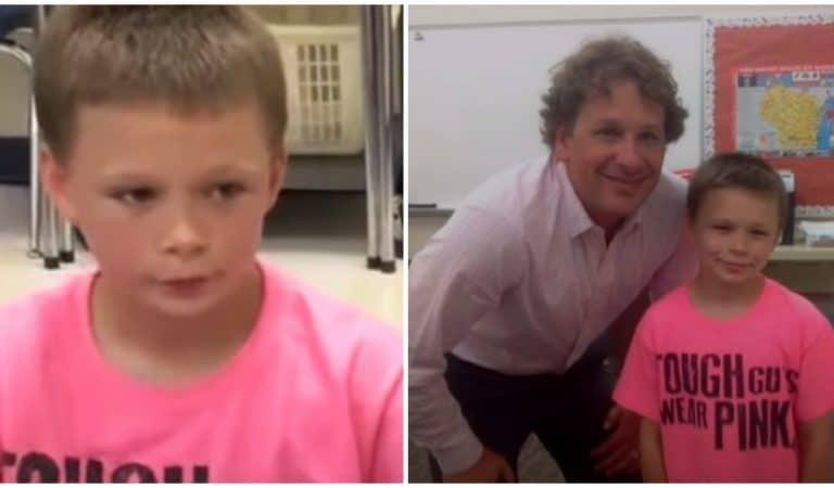 Ses camarades harcèlent un garçon habillé en rose: Son instituteur le défend d'une très belle façon!