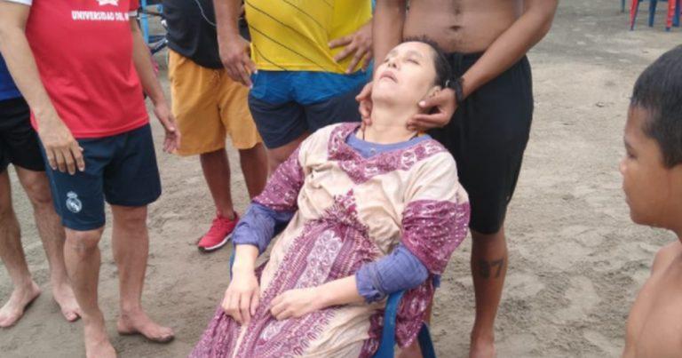 Angélica Gaitán, retrouvée en pleine mer.
