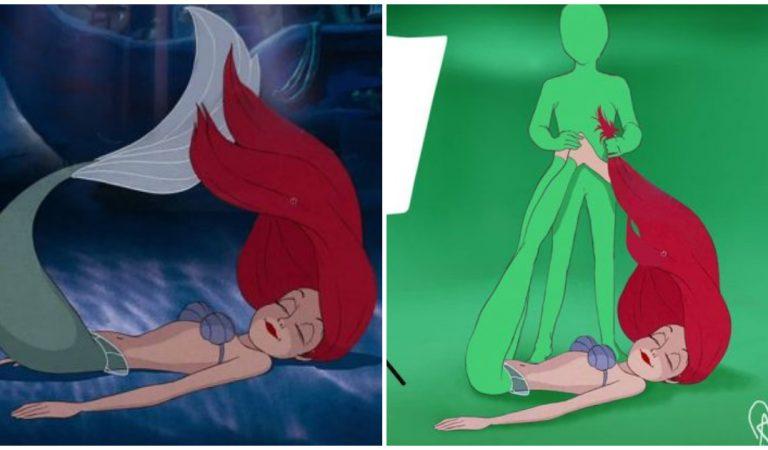 Un artiste imagine les coulisses des meilleurs films Disney !