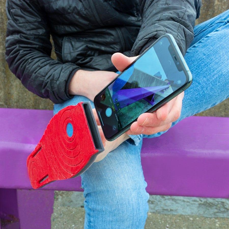 Un porte iPhone pour appel vidéo