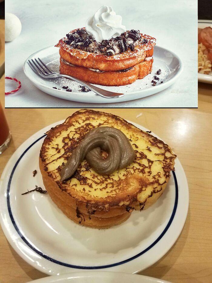 Un dessert complètement raté
