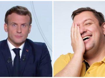 Emmanuel Macron qui annonce le reconfinement