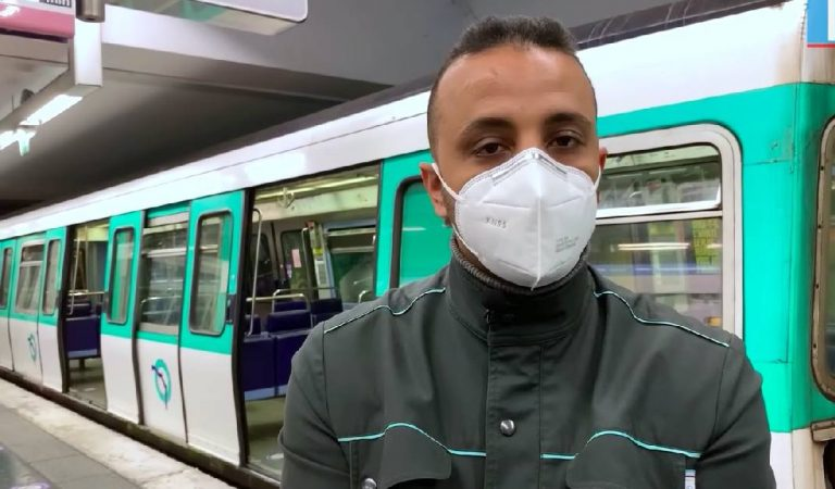 Messages anti-pickpocket: Habib, le conducteur de métro de la ligne 7 est la nouvelle mascotte des usagers