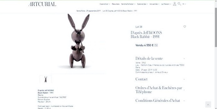 Le Rabbit de Jeff Koons
