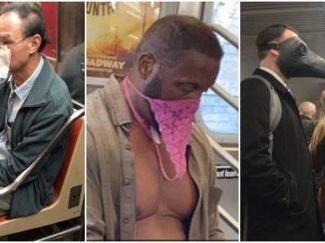 covid-19 photo métro masques insolites