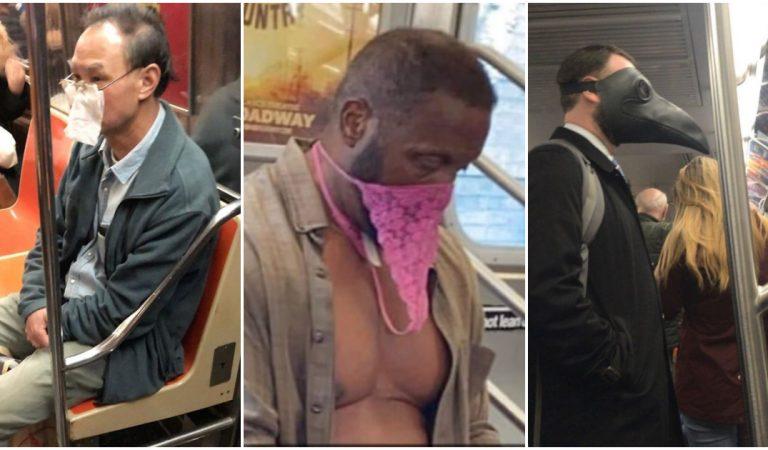 Top 22 des masques anti-coronavirus les plus originaux vus dans le métro