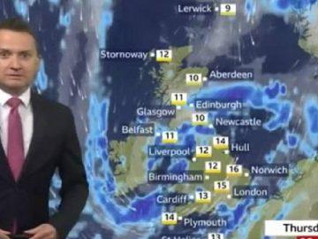 Matt Taylor présente la météo sur la BBC