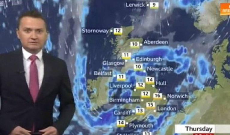 Ce présentateur météo fait la pire gaffe en plein direct et provoque un fou rire général