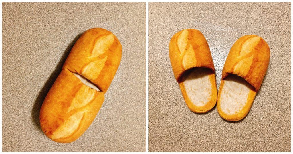 Pantoufles en forme de pain