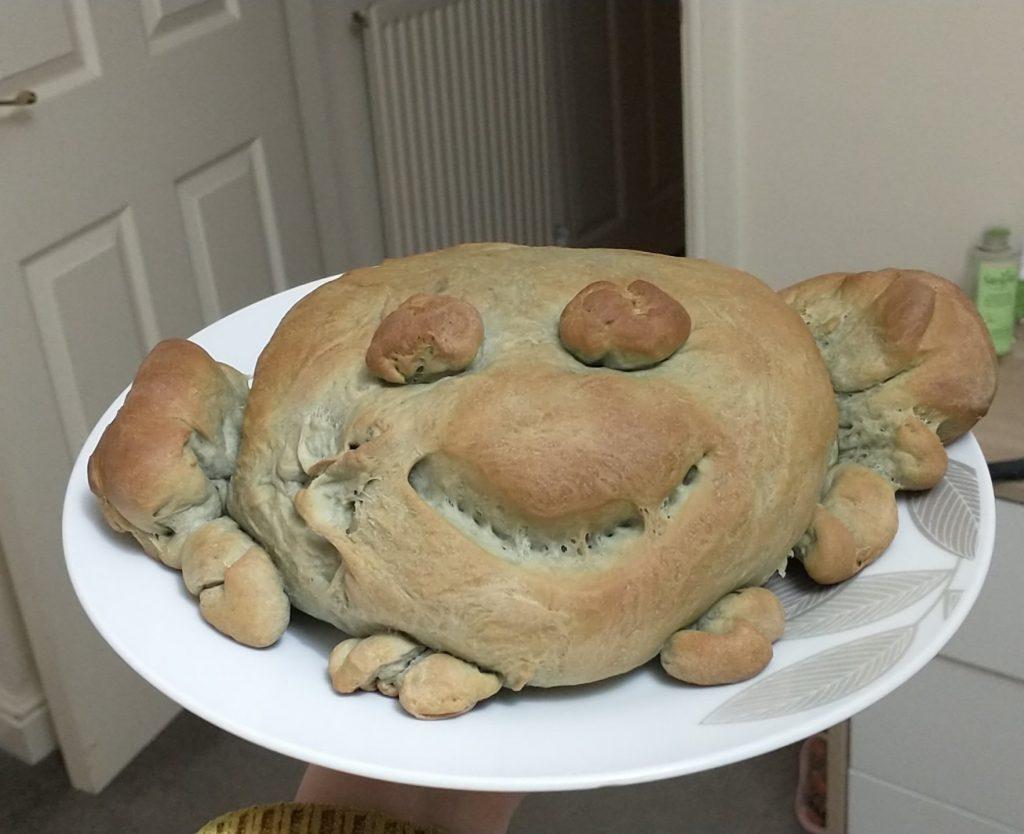 Un pain en forme de crabe