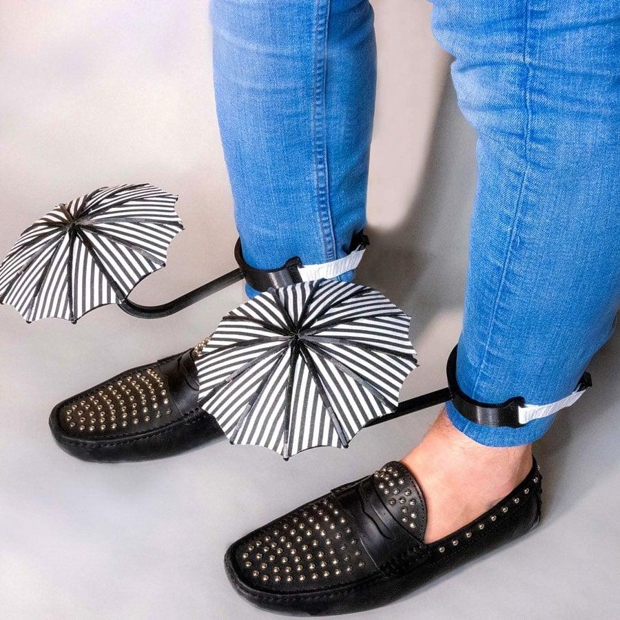 Des parapluies pour chaussures