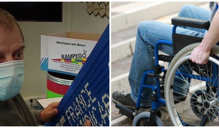 Des bénévoles collectent des Legos et fabriquent des rampes d'accès pour les personnes en fauteuil roulant