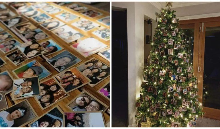 Une maman crée un sapin de Noël «spécial Covid» avec une décoration originale