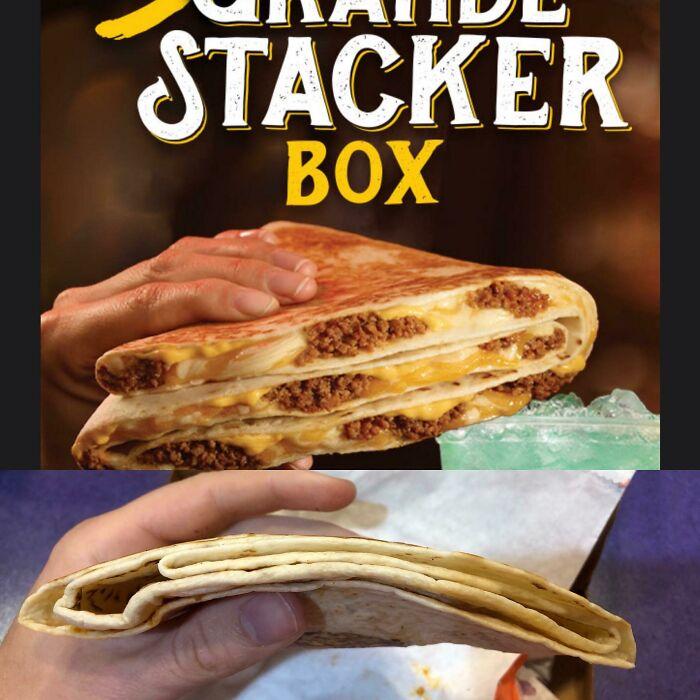 Une publicité mensongère pour un tacos